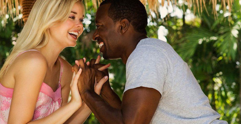 Afrikanische Männer und Deutsche Frau