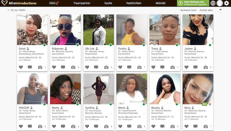 Afrikanische Singles in Deutschland bei Afrointroductions
